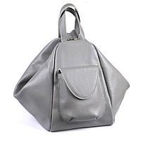 Городской рюкзак-трансформер кожаный 04 серый флотар 02040114