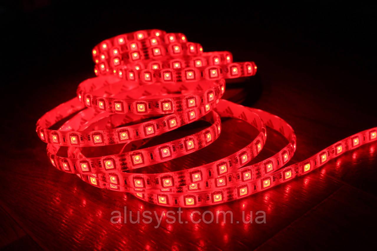 Светодиодная лента 5050-60 IP20 красный