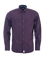 Рубашка мужская бордовая полуприталенная оригинал Pierre Cardin M