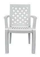Кресло пластмассовое для летнего кафе Церцис белый