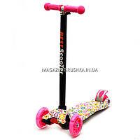 Трехколесный самокат Scooter со светящимися колесами для детей и подростков весна-лето, фото 1