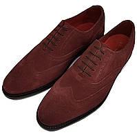Мужские туфли оксфорды ручной работы Samuel Windsor бордовые SH0040/40