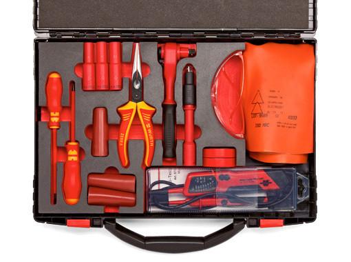 Набор инструментов для электро и гибридных автомобилей 16 предметов Wurth