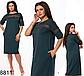 Летнее приталенное платье миди с карманами (синий) 828809, фото 3