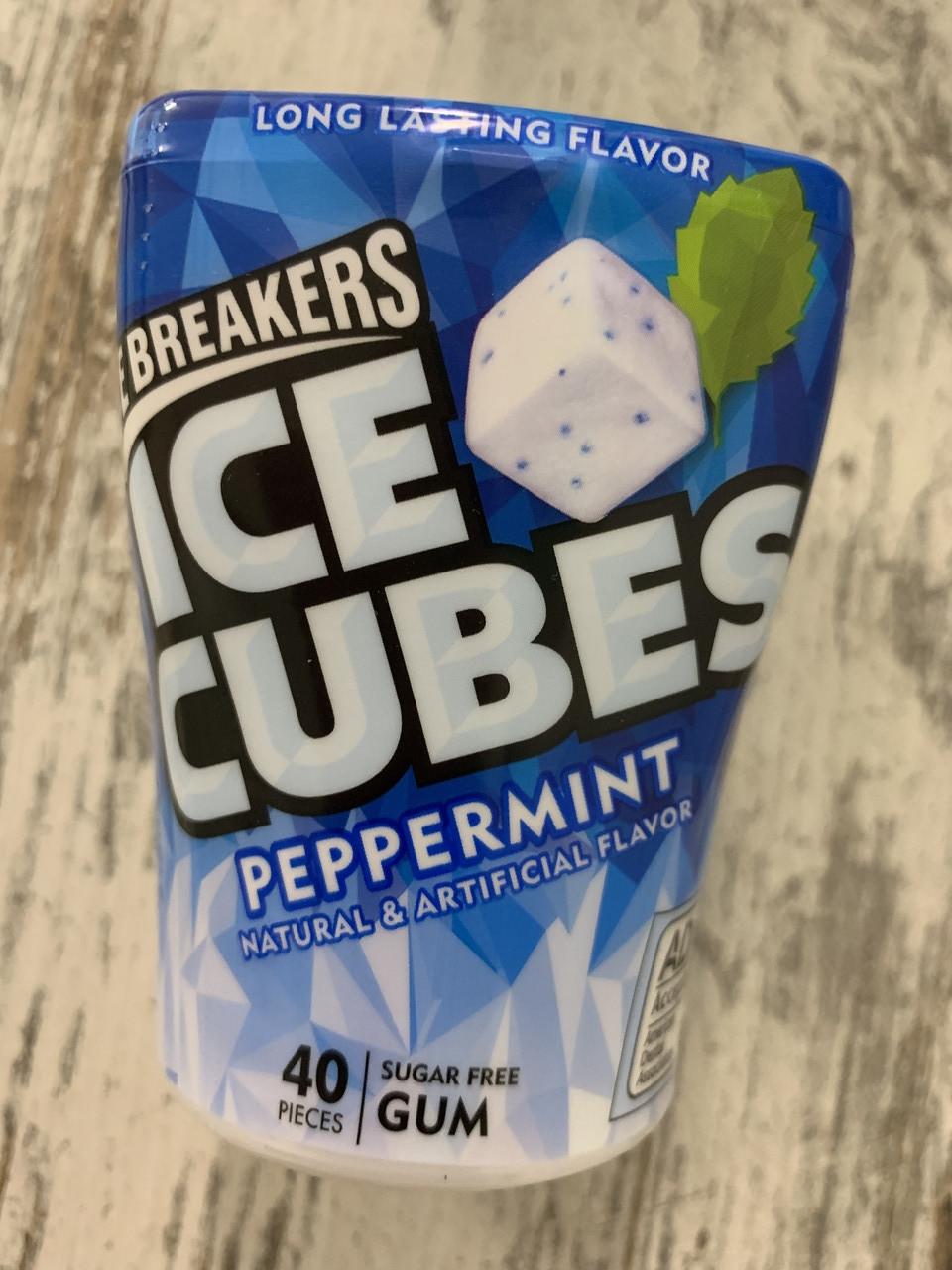 """Кубики жвачки ICE BREAKERS Ice Cubes  """"Перечная мята"""""""