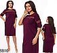 Летнее приталенное платье миди с карманами (синий) 828809, фото 4