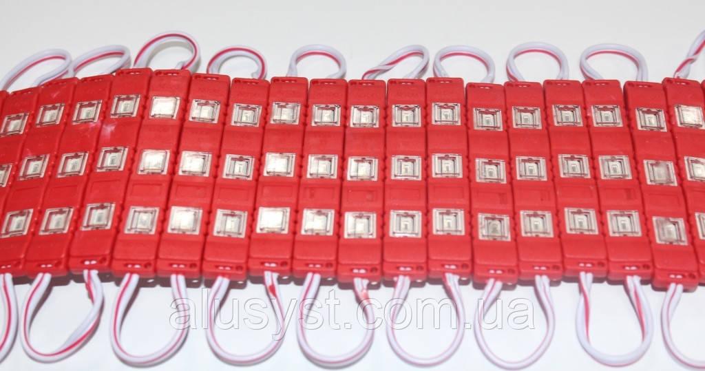 Светодиодный модуль 5630-12V-1.5Wв пластиковом корпусе, красный