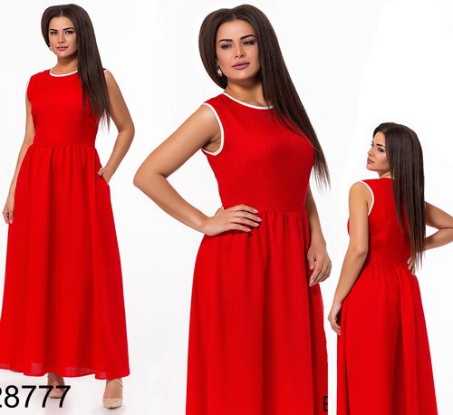 112d26bd483 Купить Летнее льняное женское платье без рукавов (красный) 828777 ...