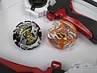 Beyblade набор - Арена с крышкой прочная, два Beyblade Ахилес и Волтраек Запускалки с двумя ручкам, фото 8