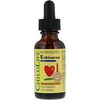 Эхинацея жидкая, с натуральным вкусом апельсина, 29,6 мл ChildLife, Essentials