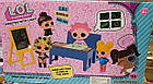 Кукла LOL Рисуй Светом А5 формат - игровой набор школа 3 куклы доска, парта, фото 2