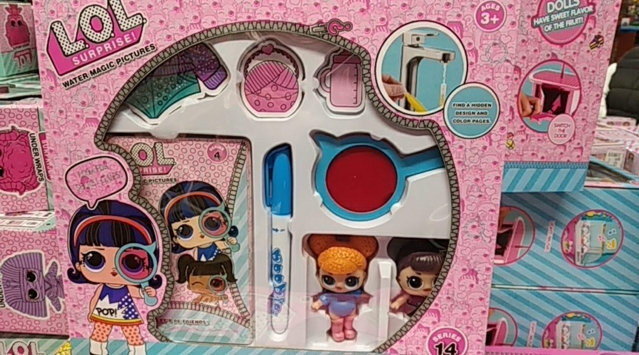 Кукла LOL сюрприз - игровой набор кукла лол , книга раскраска , 2 героя