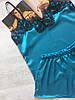 Пижама женская атласная бирюза 02, фото 2