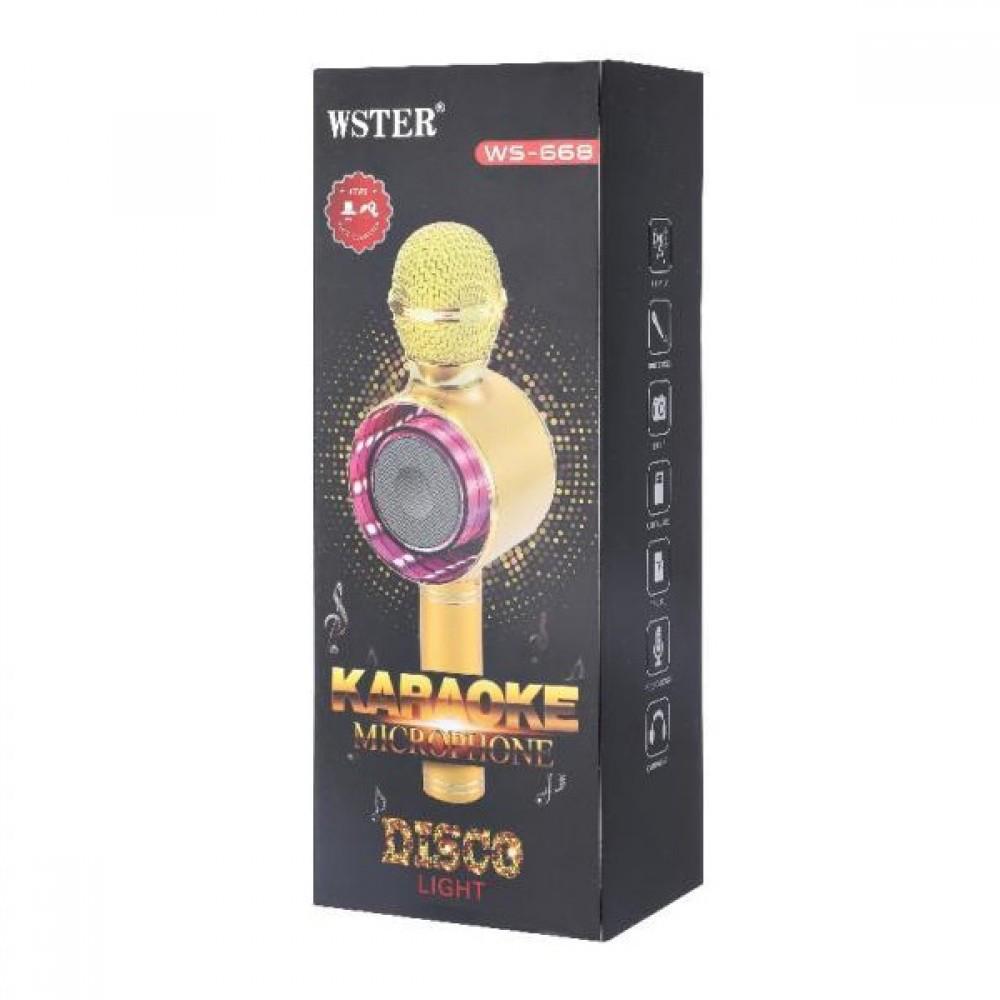 Беспроводной микрофон караоке  Wster WS-668
