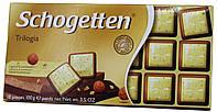 Шоколад молочно-белый Schogеtten Trilogia (с Орехом) 100г.