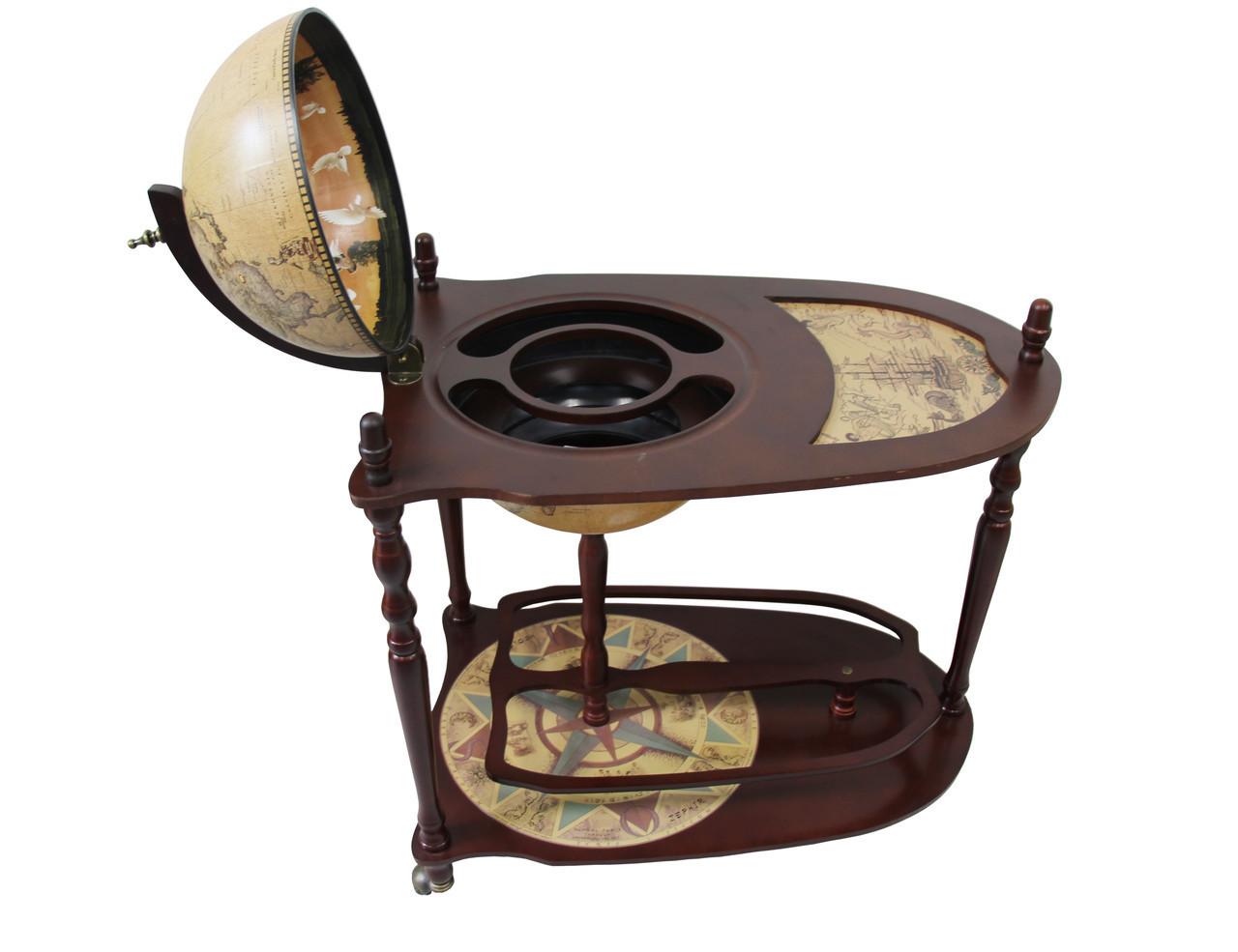 Глобус бар со столиком коричневый 33035N