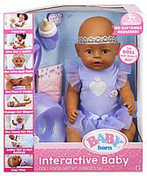 Интерактивная Кукла пупс Беби Борн - Baby Born Dark Brown Eyes Interactive Doll