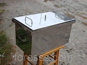 Коптильня с гидрозатвором для горячего копчения из нержавеющей стали
