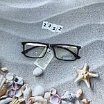 Модные  квадратные имиджевые очки  в черной оправе, фото 3