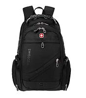 Городской рюкзак SWISSWIN SWISSGEAR 8810 для ноутбука с USB + Подарок (чехол-дождевик)