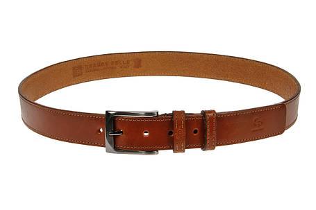 Кожаный ремень Affari, коньяк прошитый , фото 2