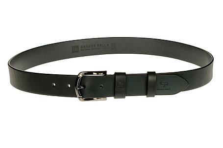 Кожаный ремень Quadro, чёрный, фото 2