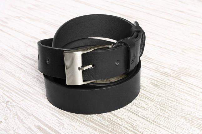 Кожаный ремень Ondulato, черный, фото 2