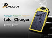 Solar Power Bank 5000mAh Waterproof (YD T011).Желтый, фото 1