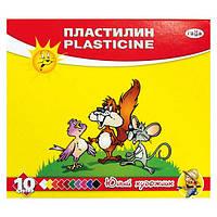 Пластилин ГАММА-Рос Юный Художник 280044, 10 цветов 140 гр, стек