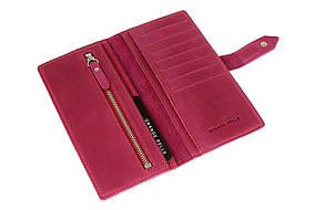 Кожаное женское портмоне Grande Pelle 523163 женский кошелек фуксия