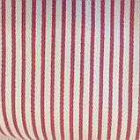 Карманка в бордовую полоску, 1,5 м ширина, хлопок 100%, фото 4