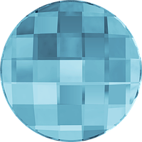 Кристаллы Сваровски клеевые холодной фиксации 2035 Aquamarine (202) Swarovski, 10 мм, Австрия