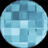 Кристаллы Сваровски клеевые холодной фиксации 2035 Aquamarine (202) Swarovski, 14 мм, Австрия