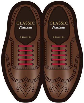 Силиконовые шнурки (антишнурки) для классических туфель , фото 2