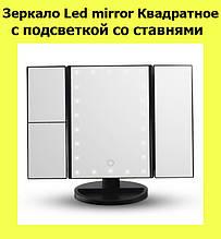 SALE! Зеркало Led mirror Квадратное с подсветкой со ставнями