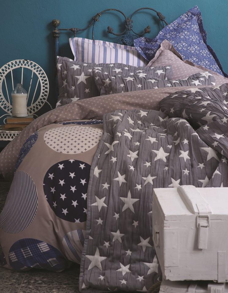 """Постельное белье Karaca Home Gatsby индиго ранфорс евро - Интернет магазин """"Like Home"""" - домашний текстиль для всей семьи в Киеве"""