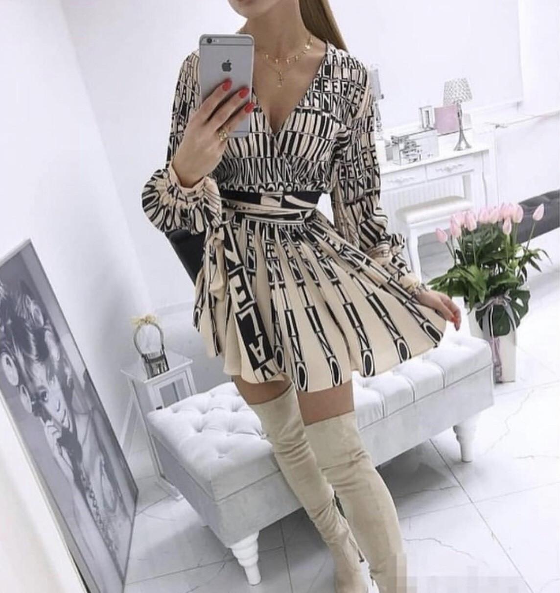 Платье Valentino бежевое