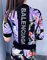 Костюм двойка женский Balenciaga (фиолетовые тропики)