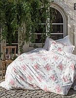 Комплект постельного белья Karaca Home - Elena розовый ранфорс евро