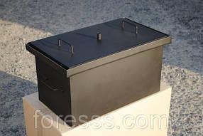 Коптильня с гидрозатвором для горячего копчения окрашенная (520х300х280)