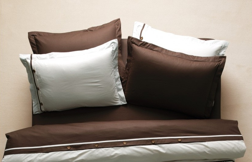 Постельное бельё Karaca Home - Solid кофе ранфорс полуторный