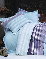 Cтеганный комплект постельного Karaca Home - Nolan зеленое ранфорс еврo