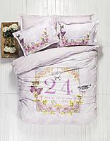 Постельное белье Karaca Home - History лиловое пано стеганное евро