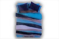 Постельное белье с пледом Amour Paris бирюзово голубое евро