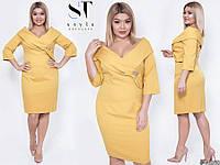 Очаровательное облегающее платье со спущенными плечами с 48 по 58 размер, фото 1