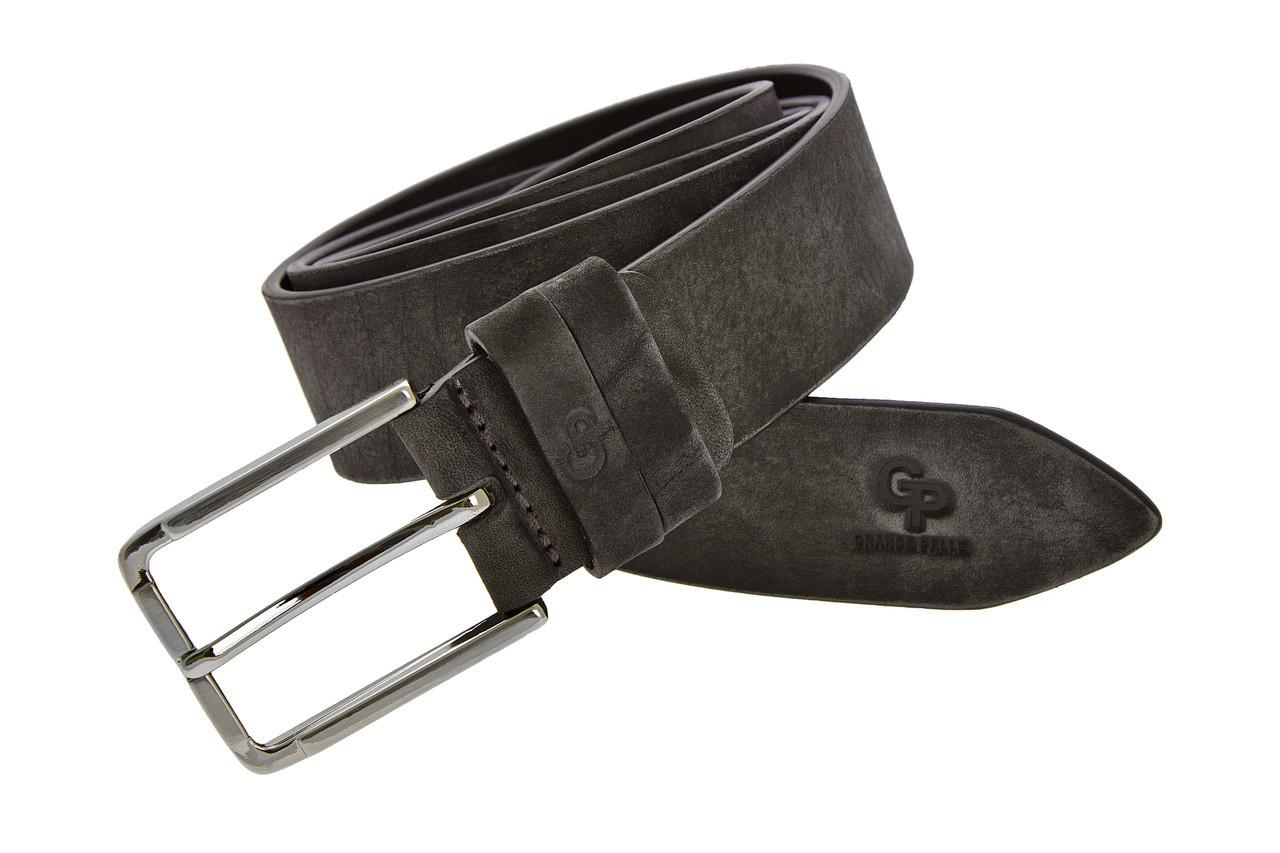 Кожаный ремень Rigoroso, серый мрамор
