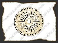 Круглое донышко с узором для вязанных сумочек и корзин, диаметр 20см №2
