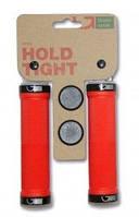 Ручки руля Green Cycle GC-G201 130mm красные с двумя черными замками