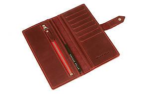 Кожаное женское портмоне Grande Pelle 523161 женский кошелек бордовый