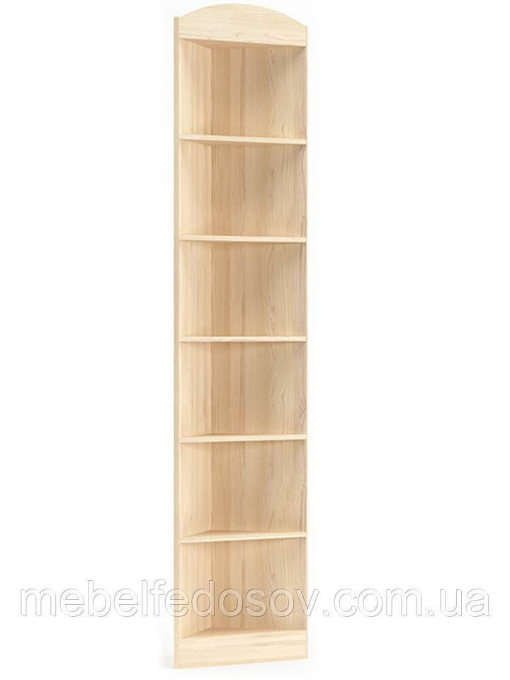 Стеллаж угловой Дисней (Мебель-Сервис)  352х352х2180мм дуб светлый